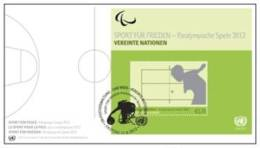 ONU Vienne 2012 - Paralympic Games (FDC Feuillet) - FDC