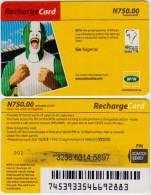 NIGERIA  PREPAID & RECHARGE CARD MTN  N 750 - LOGO FOOTBALL AFRICA CUP OF NATIONS GHANA 2008