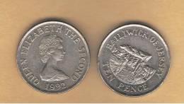 JERSEY -   10   Pence  1992  KM57.2 - Jersey