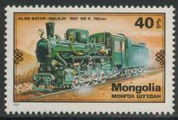 Mongolia Mongolie 1979 Mi 1237 YT 1030 ** Class KB4 Steam Locomotive (1931), Mongolia – Ulan Bator-Nala /Dampflokomotive - Treinen