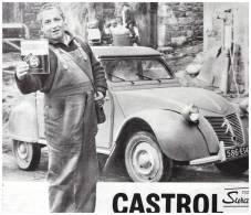 1960 Publicité Papier. 2cv 2 Cv Citroen    Castrol SAINT BONNET  LE COURREAU  MR EPINAT - Publicités