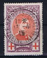 Belgium: OBP  134 ,  Used Obl., Rode Kruis, Croix Rouge
