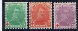 Belgium: OBP  129 - 131 ,  MH/* , Rode Kruis, Croix Rouge - 1914-1915 Croix-Rouge