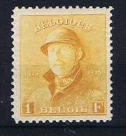 Belgium: OBP  175, MH/*, 1919 - 1915-1920 Albert I