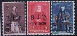 Belgium: OCB 305 - 307, MH/*   1930