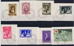 Belgium:  1939- OBP 496-503, FDC Cancels - ....-1951