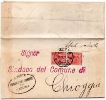 1921   LETTERA  CON ANNULLO CASCINA PISA - Marcophilie