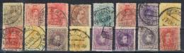 Lote De 16 Fechadores Provincia CADIZ, Alfonso XIII 1892-1927 º - 1889-1931 Reino: Alfonso XIII
