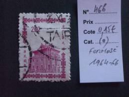 """FORMOSE  ( O )  De  1964 - 1966   """"   Pagode  De  QUEMOY   """"   N° 466        1 Val. - 1945-... République De Chine"""