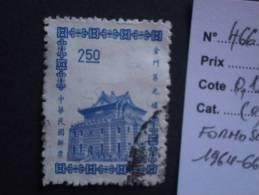 """FORMOSE  ( O )  De  1964 - 1966   """"   Pagode  De  QUEMOY   """"   N° 466 A        1 Val. - 1945-... République De Chine"""