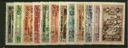 Grand Liban   N° 63 à 74  Neuf  X MH    Cote Y & T  61,00  Euro Au Quart De Cote