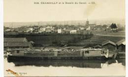 7518 -  Saone Et Loire -  CHAMBILLY Et Le Bassin Du Canal  , Péniche , Beau Plan ....circulée - Other Municipalities