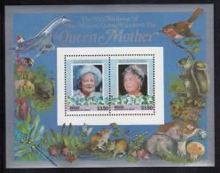 St. Vincent Grenadines - Bequia MNH Scott #211 Souvenir Sheet Of 2 $3.50 Queen Mother - 85th Birthday - St.Vincent & Grenadines