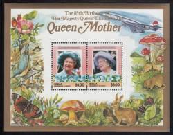 St. Vincent Grenadines - Bequia MNH Scott #212 Souvenir Sheet Of 2 $6.00 Queen Mother - 85th Birthday - St.Vincent & Grenadines
