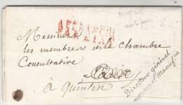 Griffe Noire Directeur General/Commerce E TManufacture Sur Pli Du 31/05/1815 (cent-jours) - 1801-1848: Precursors XIX