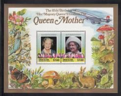 St. Vincent Grenadines - Union Island MNH Scott #212 Souvenir Sheet Of 2 $7 Queen Mother - 85th Birthday - St.Vincent & Grenadines
