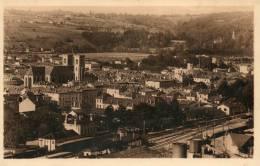 CPA -BOURGOIN(38) - Un Coin De La Ville Côté Est Et La Gare - Bourgoin