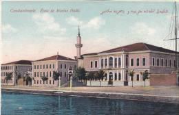 TURQUIE TÜRKIYE TURKEY CONSTANTINOPLE. ECOLE DE MARINE HALKI. ORIGINAL VINTAGE POSTCARD. - Turquie