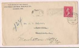 USA Commercial Cover, Postal Markings Stamp, Railway Co.  (10463) - Vereinigte Staaten
