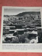 MAROC   1950  RACE  ETHNIE  BERBERE VILLAGE D AIN LEUH / RABAT / CASABLANCA   FORMAT 24X21 CM - Lieux