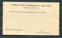 Instituto Fisico Geografico De Costa Rica Stationery Card - Unused - Costa Rica