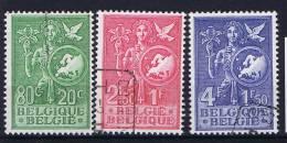 Belgium: OBP 927-929 Used Obl, 1953