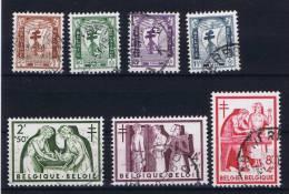 Belgium: OBP 998-1004  Used Obl 1956