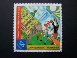 THEME SPORT FOOTBALL FUTBOL COUPE DU MONDE COPA DEL MUNDO FIFA MUNICH 1974 GUINEE EQUATORIALE GUINEA EQUATORIAL - Coppa Del Mondo