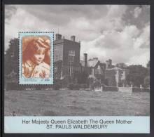 St. Vincent Grenadines MNH Scott #740 Souvenir Sheet $5 Queen Mother As Child, St. Paul's Waldenbury - 90th Birthday - St.Vincent & Grenadines