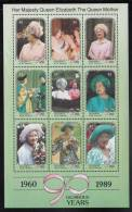 St. Vincent Grenadines MNH Scott #739 Sheet Of 9 $2 Queen Mother In Fancy Hats - 90th Birthday - St.Vincent & Grenadines