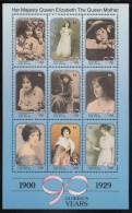 St. Vincent Grenadines MNH Scott #737 Sheet Of 9 $2 Queen Mother As Child, Young Woman - 90th Birthday - St.Vincent & Grenadines