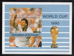 St. Vincent Grenadines MNH Scott #714 Souvenir Sheet $6 England - World Cup Soccer 1990 - St.Vincent & Grenadines