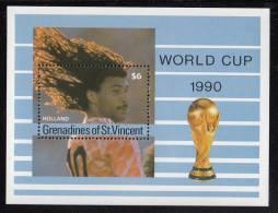 St. Vincent Grenadines MNH Scott #713 Souvenir Sheet $6 Holland - World Cup Soccer 1990 - St.Vincent & Grenadines