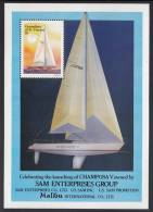 St. Vincent Grenadines MNH Scott #585 Souvenir Sheet $1 Champosa V - America's Cup Yachts - St.Vincent & Grenadines