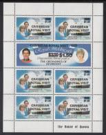 St. Vincent Grenadines MNH Scott #507, #508 Sheet Of 7 $1.50 Caribbean Royal Visit Overprint On $3.50 Royal Wedding - St.Vincent & Grenadines
