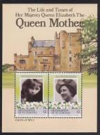 St. Vincent Grenadines MNH Scott #500 Souvenir Sheet Of 2 $2 Queen Mother, Castle Of Mey - 85th Birthday - St.Vincent & Grenadines