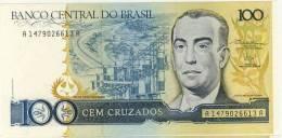 BILLET # BRESIL # 1986 # 100 CRUZADOS  # CEM CRUZADOS #  NEUF # JUSCELINO  KUBITSCHEK - Brésil