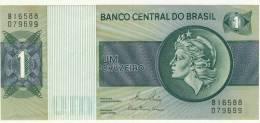 BILLET # BRESIL # 1970 # 1 CRUZEIRO  # UM CRUZEIRO  #  NEUF #  TETE LIBERTE - Brésil