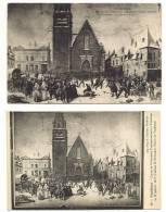VENDOME - Lot  2 Cartes Tableau E. Renouard , Convoi Prisonniers Français 12 Janvier 1871 - Vendome