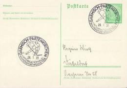 GERMANY 1939  WINTERSPORT WEEK  POSTMARK  /ZX/ - Hiver