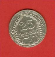 Allemagne - Empire Allemand - 1909 D - 25 Pfennig - KM 18 - [ 2] 1871-1918 : Imperio Alemán