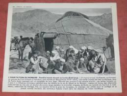 TURQUIE  1950  ETHNIE KAZAK DEVANT SA IOURTE  EN MONGOLIE  FORMAT 24X21 CM - Lieux