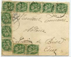 FRANCE - BLANC N° 111(10) SUR LETTRE DE ROSSILLON LE 16/2/1930 POUR SERRIERES DE BRIORD - TB - 1877-1920: Semi Modern Period