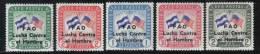 AP816 - HONDURAS ,  Posta Aerea Serie N. 302/306 *** MNH . FAO - Honduras
