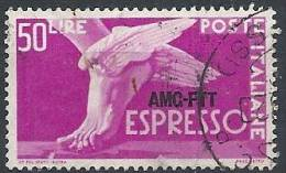 1952 TRIESTE A USATO ESPRESSO 50 LIRE - RR11340-2 - 7. Triest