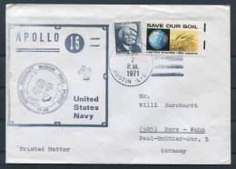 1971 USA Apollo 15 Space Rocket Cover - Covers & Documents