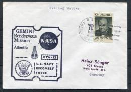 1966 USA Gemini Ship Space Rocket Cover - Covers & Documents
