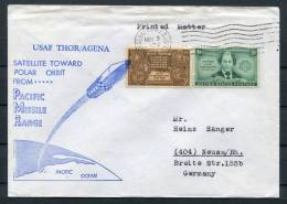 1965 USA USAF Thor/Agena Polar Space Rocket Cover - Covers & Documents