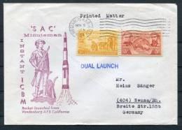 1964 USA ICBM SAC Minuteman Space Rocket Cover - Covers & Documents