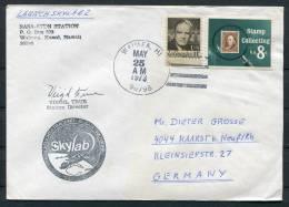 1973 USA Waimea Launch Station Hawaii Skylab Space Rocket Cover - Signed - Covers & Documents